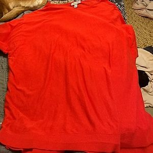 Dressbarn soft red dolman sleeve knit blouse
